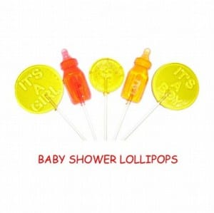 Some baby shower lollipops