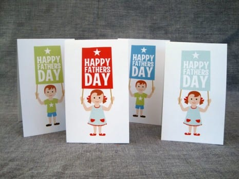 Father's Day tented cards