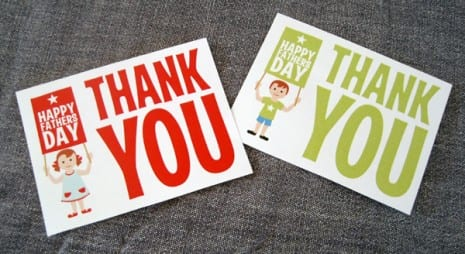 Father's Day thank you favor tags