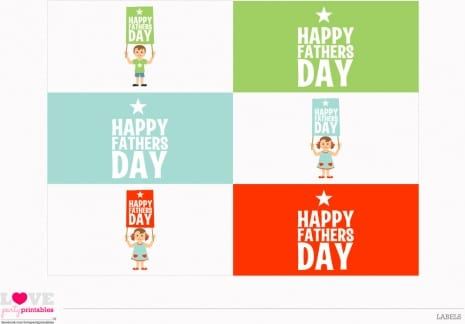 Download these fun Father's Day printables - labels