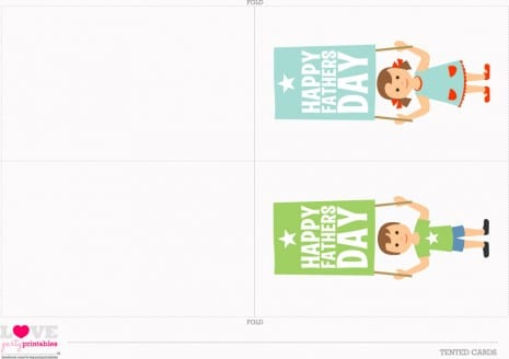 Download these fun Father's Day printables - straw flags