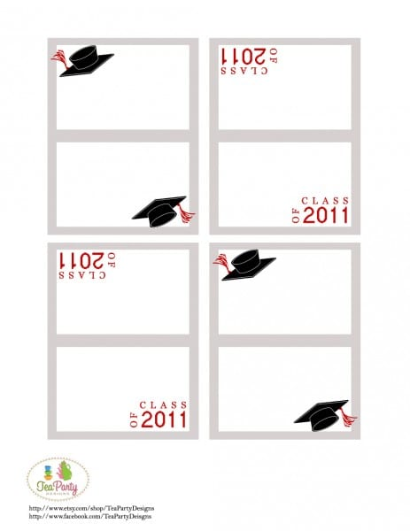 photograph about Free Printable Graduation Name Cards referred to as Exciting and Information and facts with Young children: Commencement Do it yourself celebration guidelines and