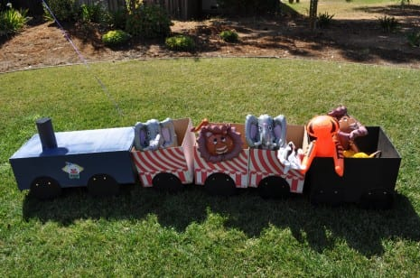 homemade circus train