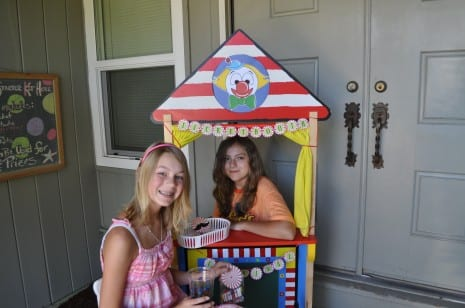 Homemade ticket booth