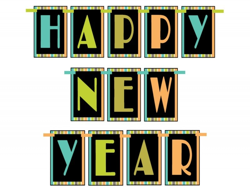 pin it free happy new year printable banner