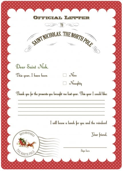letters to santa 2011 free printables from serendipity soiree 9250
