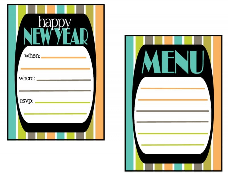 FREE New Year\'s Party Printables From Mimi\'s Dollhouse | Catch My Party