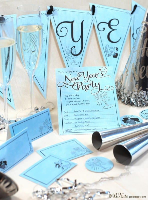 free new years printable invitation decorations