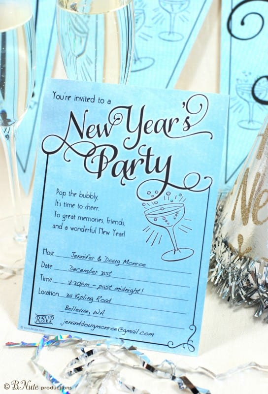 31st Party New Year Invitation Merry Christmas And Happy New Year 2018