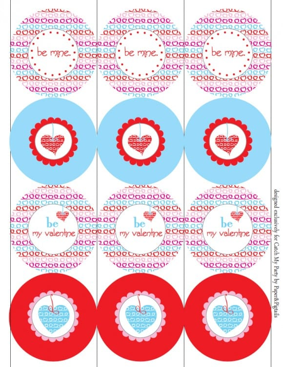 picture regarding Valentine's Day Printable Decorations named No cost Valentines Working day Celebration Printables against Paper Pigtails