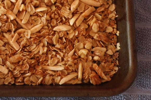 Nutty, Crunchy, Not-too-Sweet Granola | CatchMyParty.com