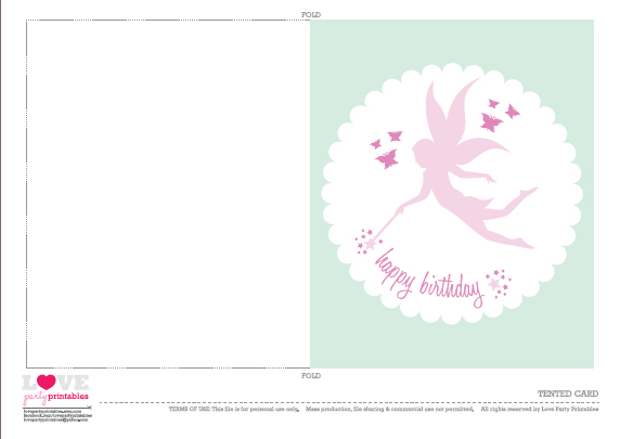 Free Fairy Party Printables From Love Party Printables Catch My Party