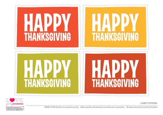 Free Thanksgiving Printables for Kids | CatchMyParty.com