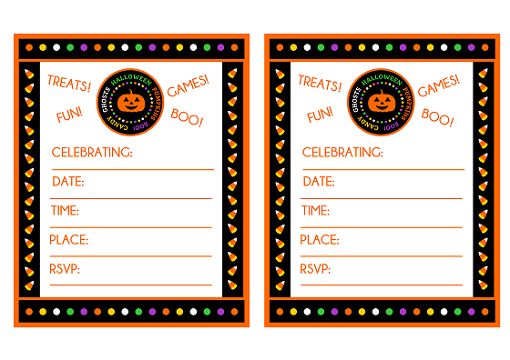 photo about Printable Halloween Birthday Invitations referred to as Free of charge \