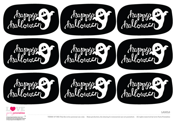 Free Halloween Party Printables From Love Party Printables  Catch