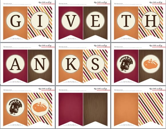 Universal image with give thanks printable