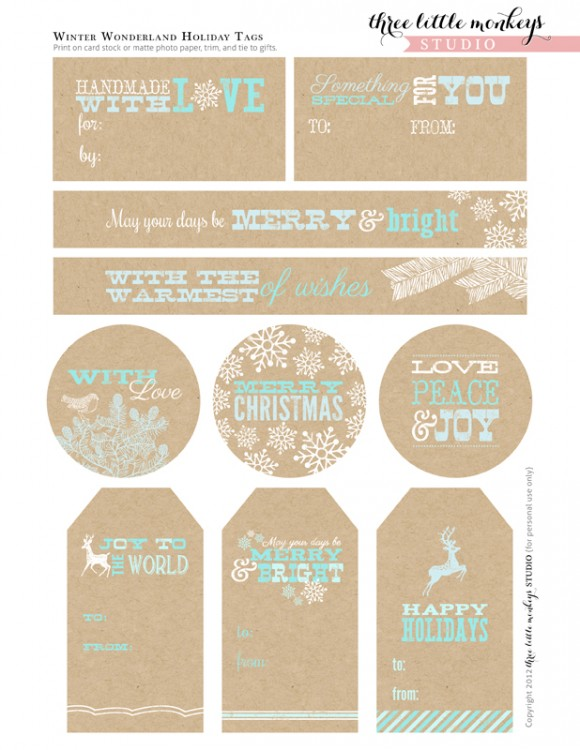 Crazy image within free printable favor tags