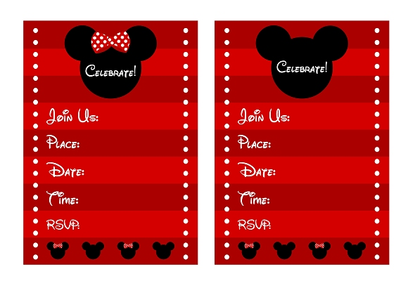 photograph relating to Printable Mickey Mouse Invitations identified as Down load All those wonderful Absolutely free Mickey Minnie Mouse Printables