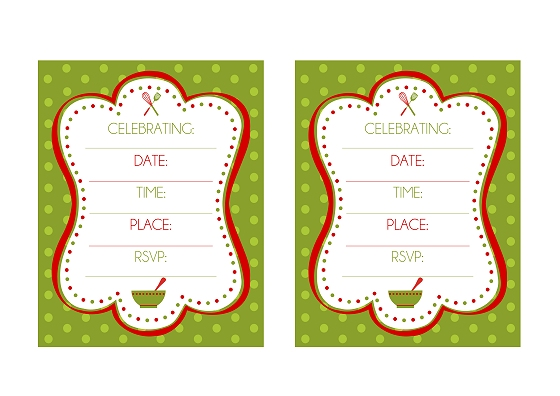 FREE Holiday Baking Party Printables from Printabelle Catch My Party