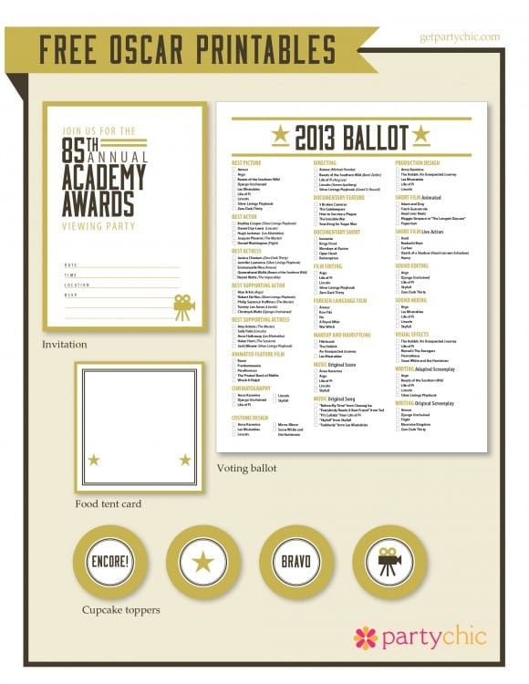 free-oscar-party-printables