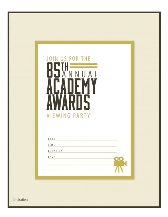 Oscars_Printable_Invite