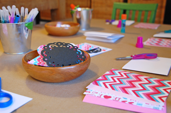 Valentine Card Making Table Doily