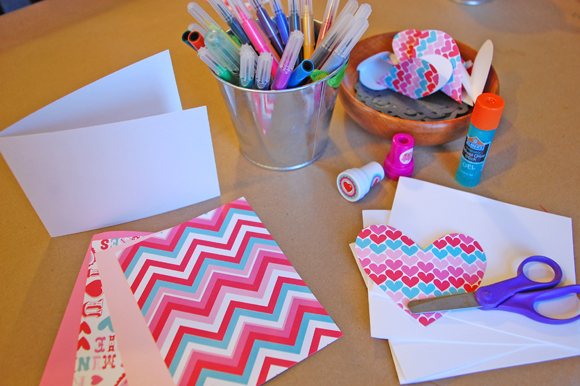 Valentine Card Making Table