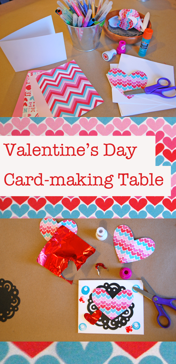 Valentines Day Card Making Table