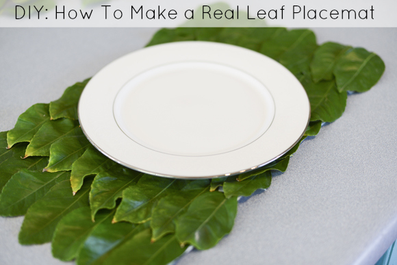 diy-real-leaf-placemats