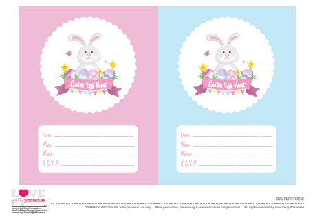 Free Easter Party Printables From Love Party Printables  Catch My Party