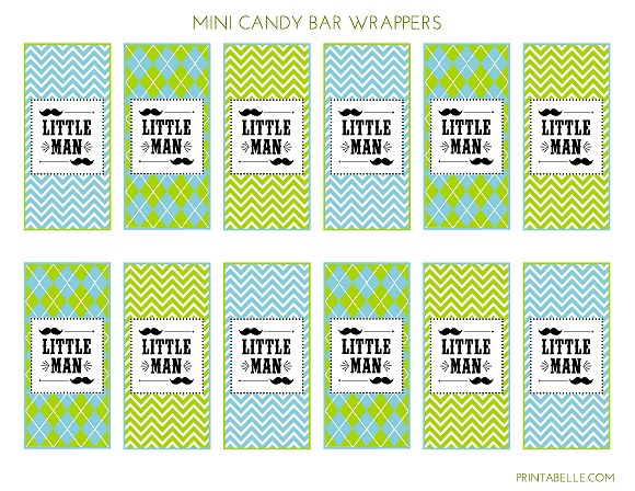Free Little Man Mustache Bash Party Printables From
