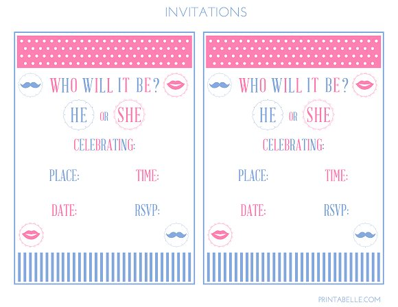 picture about Printable Gender Reveal Invitations named Down load such lovable No cost Gender Explain Printables! Capture