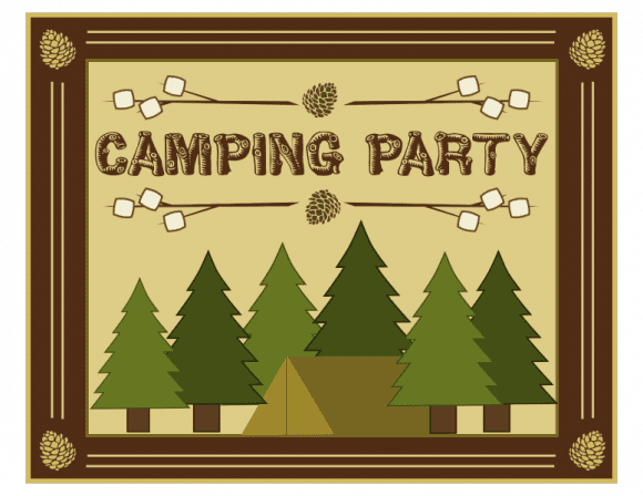 Free 'Shelter in Place' Camping Printables - Poster