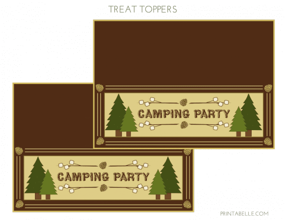 Free 'Shelter in Place' Camping Printables - Treat Toppers