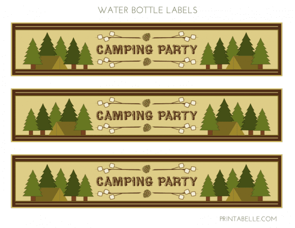 Free 'Shelter in Place' Camping Printables - Water Bottle Labels
