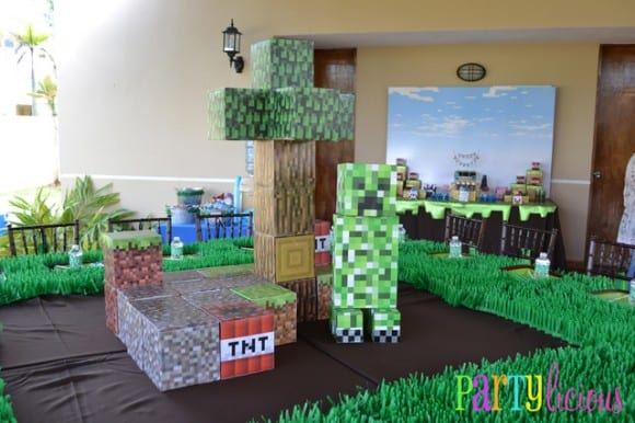 minecraft-party-ideas-decor