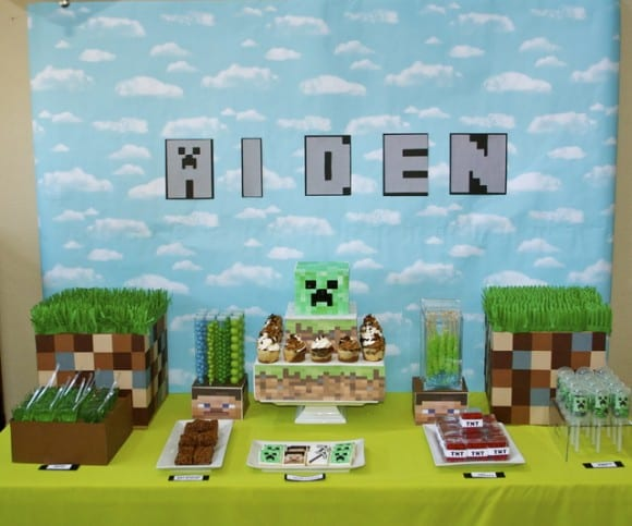 minecraft-party-ideas-table