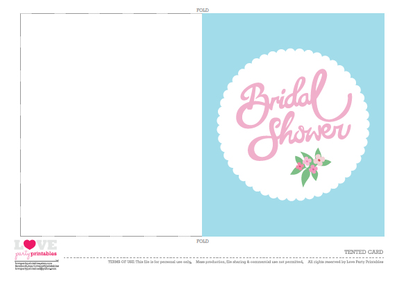 Free bridal shower party printables from love party printables free printable bridal shower tentedcards filmwisefo Choice Image