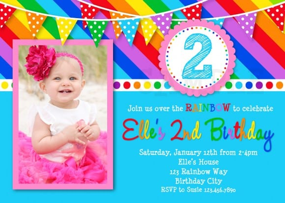 rainbow photo invite