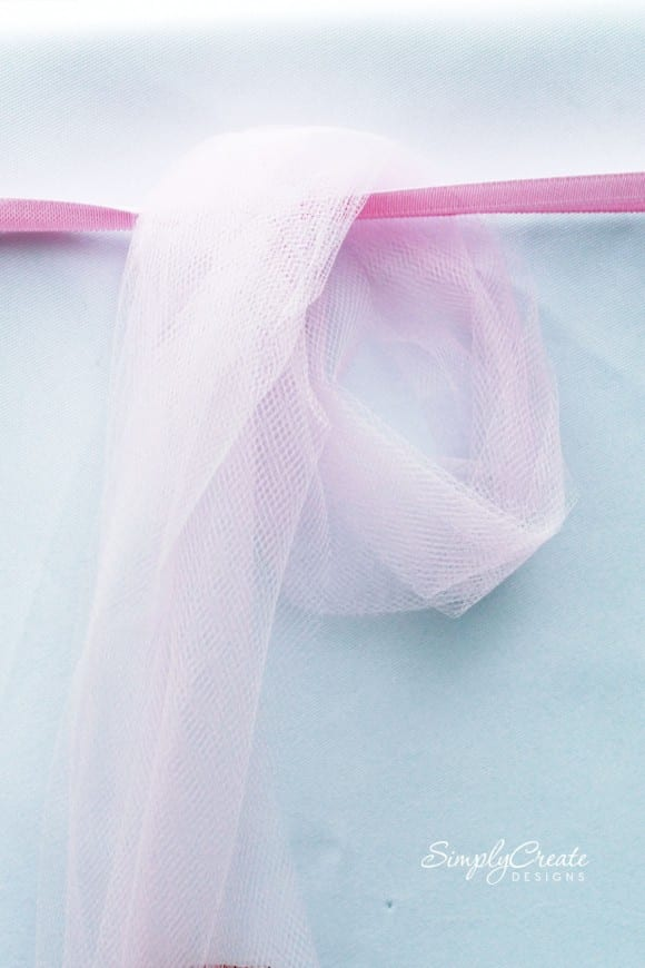 No-Sew Tulle Table Skirt Steps | CatchMyParty.com