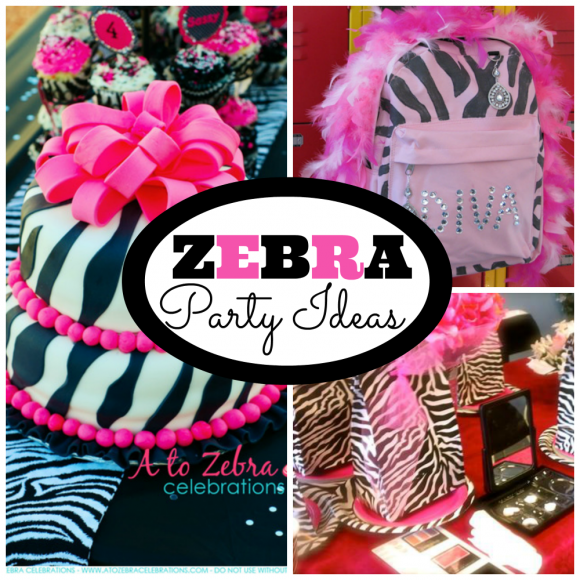 Zebra Patterned Parties | CatchMyParty.com