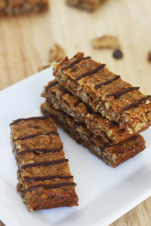 Chewy Peanut Butter Granola Bar Recipe | CatchMyParty.com