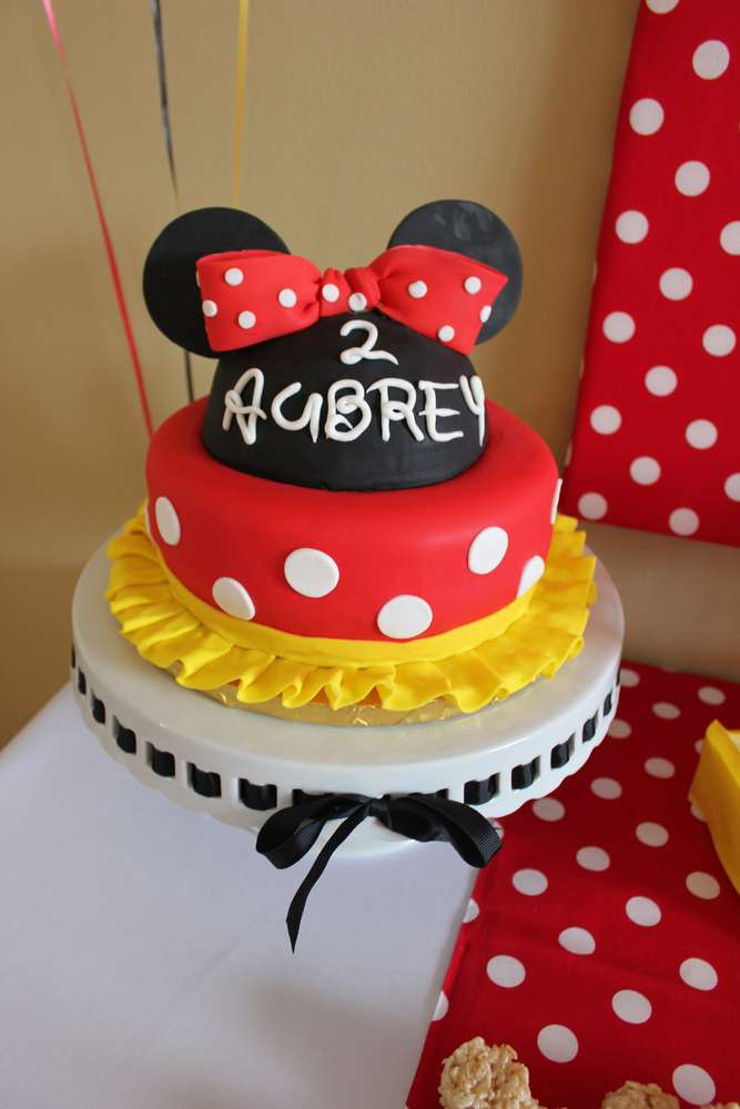 Classic Minnie Mosuse Birthday Cake