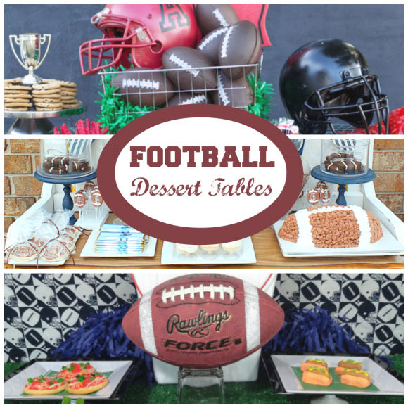 Football dessert tables | CatchMyParty.com