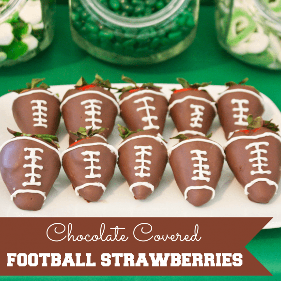 Chocolate Football Strawberries | CatchMyParty