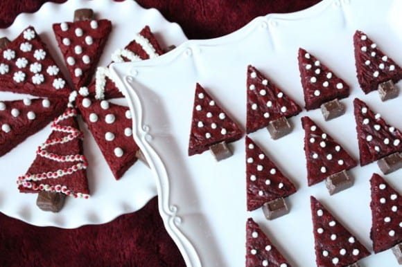 Red Velvet Christmas Tree Brownie Recipe