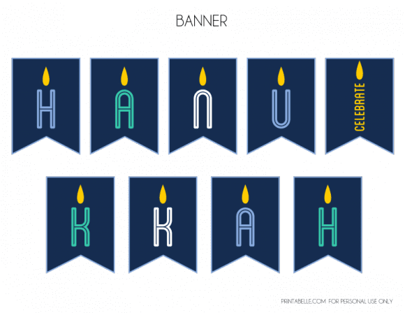 Free Hanukkah Party Printables