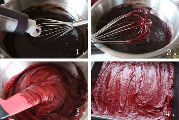 making red velvet brownies