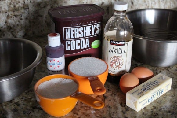 red velvet brownie ingredients
