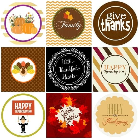 Free Thanksgiving Printable Decorations | CatchMyParty.com